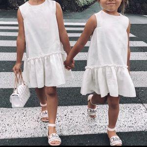 IL Gufo kids white dress